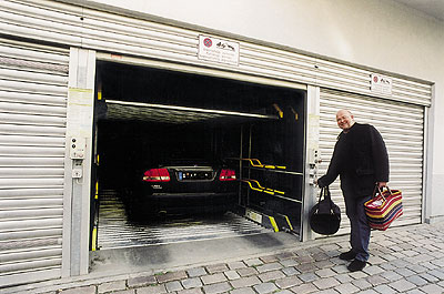 Parken in der separate Garage