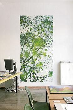 Tapeten das comeback der gro en muster berliner for Bauhaus wandtapete