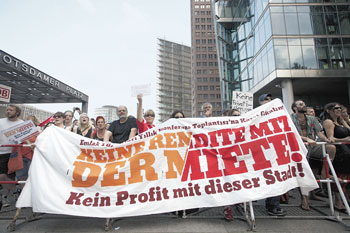 Mieterprotest am Potsdamer Platz