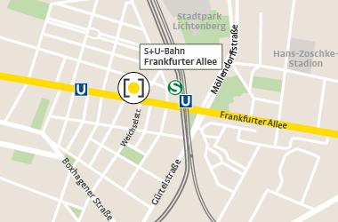 Karte Frankfurter Allee
