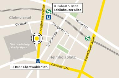 Karte Schönhauser Allee