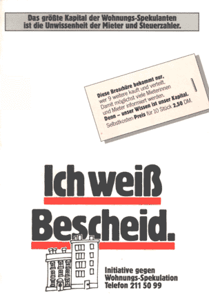 Bescheid Weiß.Aktions Broschüre Ich Weiß Bescheid Kampagne 1983