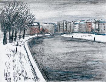 Hans Goetsch: Urbanhafen vor der Errichtung des Krankenhauses