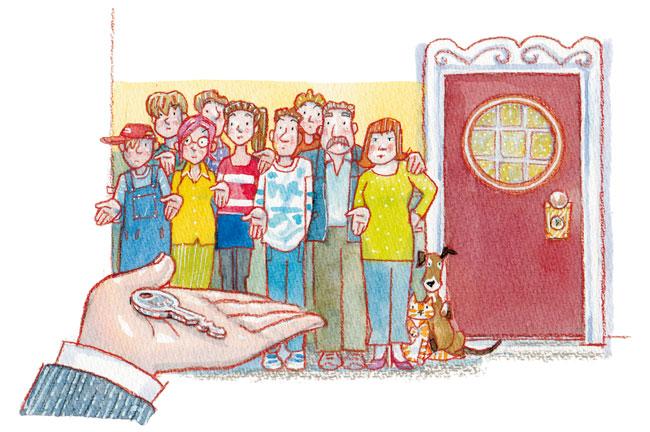 Illustration von Lisa Smith: Umzug: Ein einziger Schlüssel für alle Bewohner?