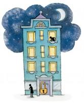 Illustration von Lisa Smith: Das Verschließen der Haustüre während der Nachtruhe ist in der Regel zulässig