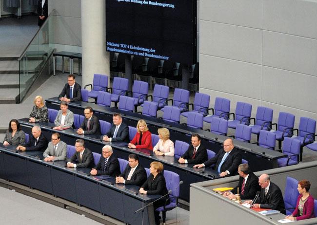 Deutscher Bundestag, Regierungsbank
