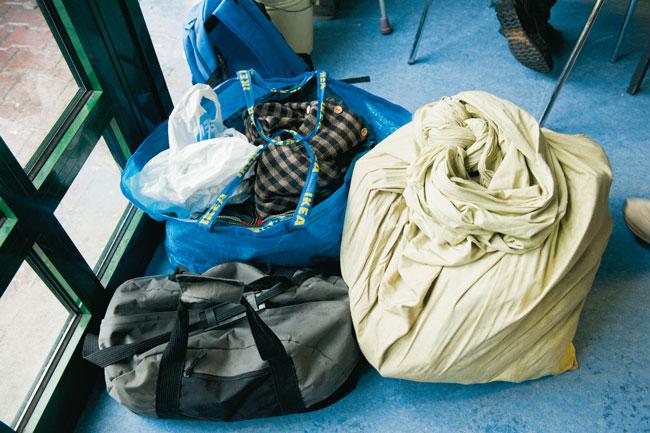 Die Habe eines Obdachlosen