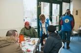 Obdachlosenfühstück in der Bahnhofsmission Berlin