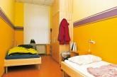 Schlafzimmer in der Notübernachtung im Bezirk Mitte