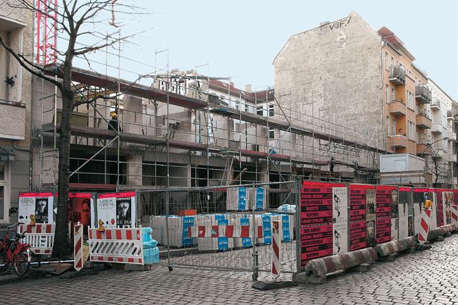 Einzige innerstädtische Baustelle: Gärtnerstraße in Friedrichshain