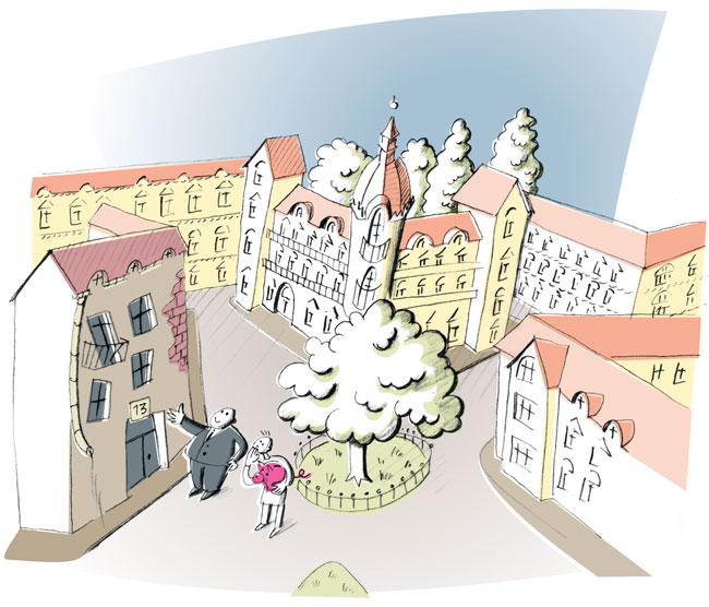 Illustration von Julia Gandras: Ist der Mietpreis für die Wohnung angemessen und marktüblich?