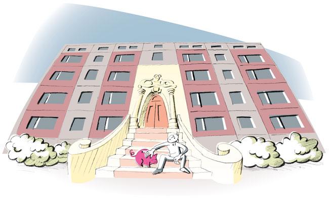 Illustration von Julia Gandras: Ist die Modernisierung überhaupt eine?