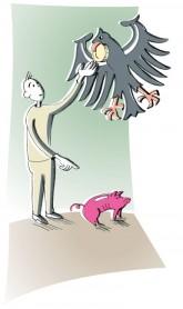 Illustration von Julia Gandras: Haben Sie eventuell Anspruch auf staatliche Hilfe?