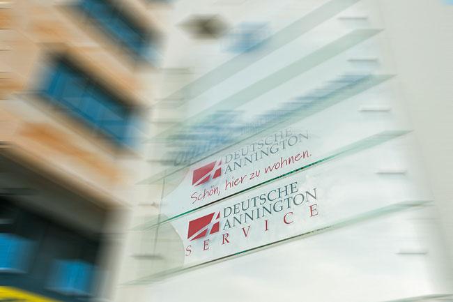 Firmenschild der Deutsche Annington