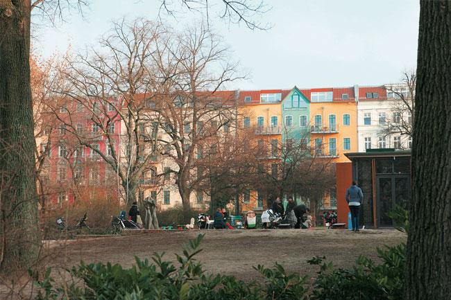Grünanlage auf dem Helmholtzplatz