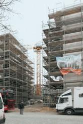 Baustelle in der Straßburger Straße
