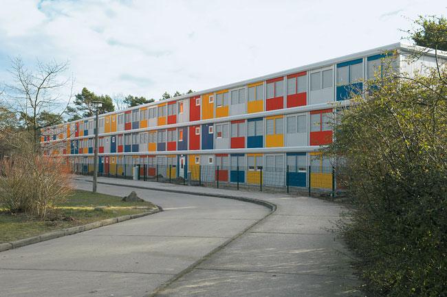 Wohncontainer zur Erstunterbringung von Flüchtlingen