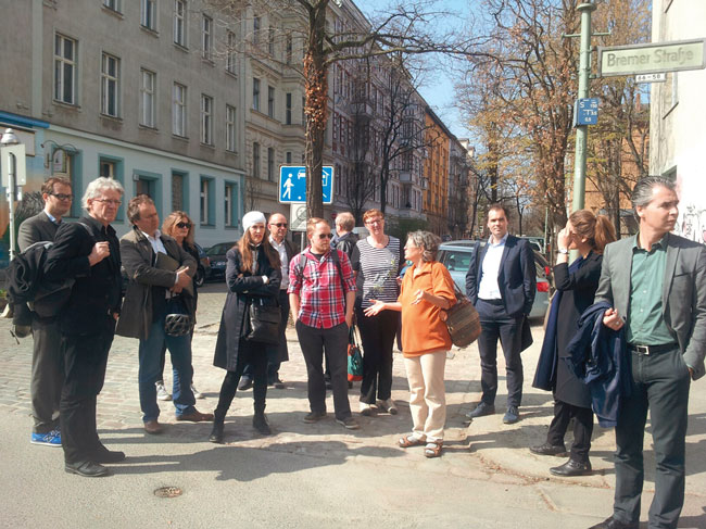 Niederländische Reisegruppe in Berlin