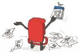 Illustration: Mietpreisbremse reißt Kalenderblätter ab
