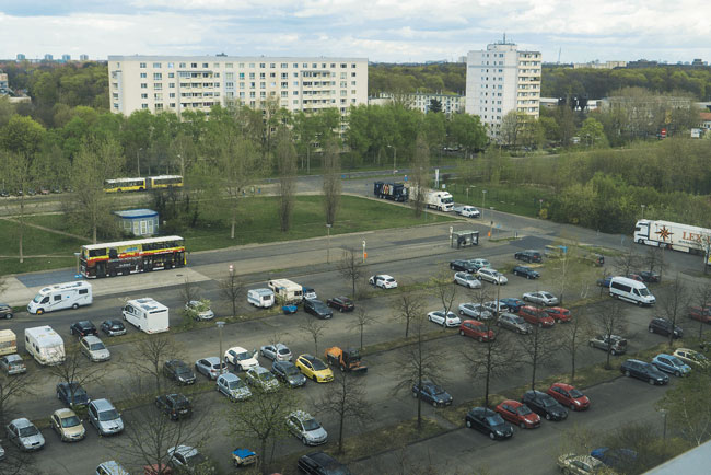 Parkplatzflächen an der Michelangelostraße