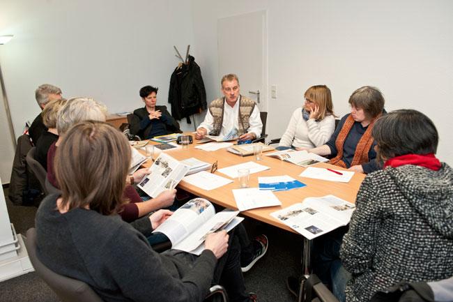 Redaktionssitzung MieterMagazin