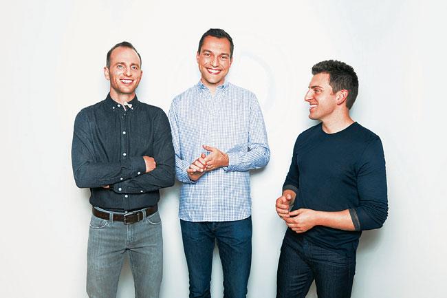 Die Gründer der Plattform airbnb