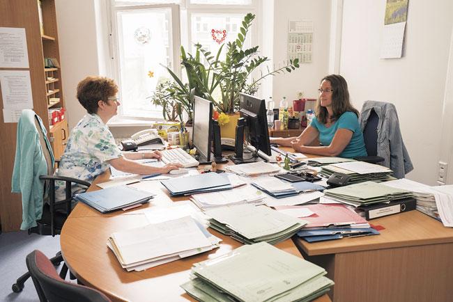 Büro der Arbeitsgruppe im Bezirksamt Mitte