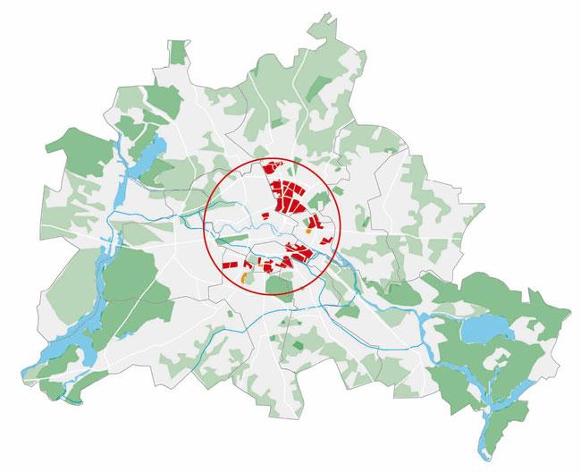 Übersichtskarte: Milieuschutzgebiete in Berlin