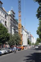 Baukran in der Gleimstraße