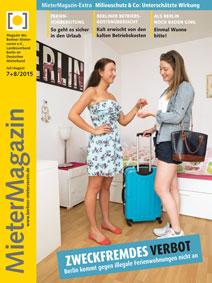 Titelbild MieterMagazin 7+8/2015