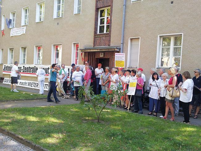 Mieterprotest in der Gagfah-Siedlung um Orber, Charlottenbrunner und Salzbrunner Straße