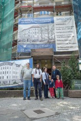 Mieterprotest vor der Kohl-Straße 15 A in Steglitz
