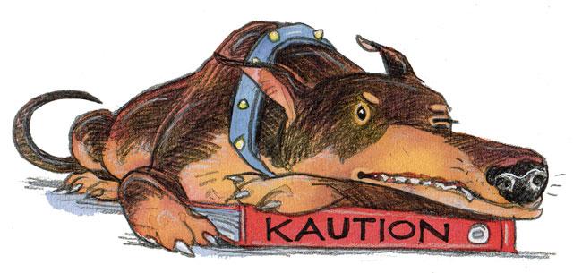 Illustration von Lisa Smith: Wildes Tier wacht über der Kaution