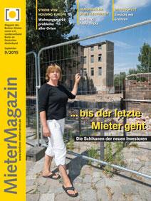 Titelbild MieterMagazin 9/2015