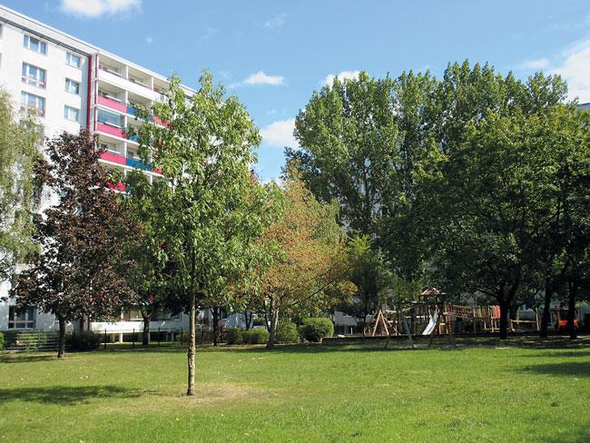 Grünfläche in Friedrichshain
