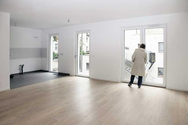 Neue noch leere Wohnung in der Friedrichshainer Gärtnerstraße 8/9