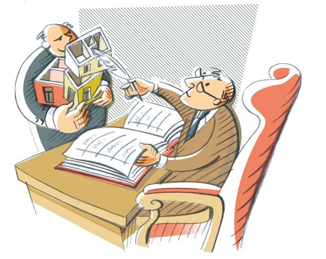 Illustration zur Eintragung ins Grundbuch