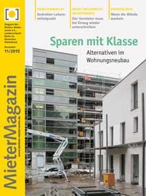 Titelseite MieterMagazin 11/2015