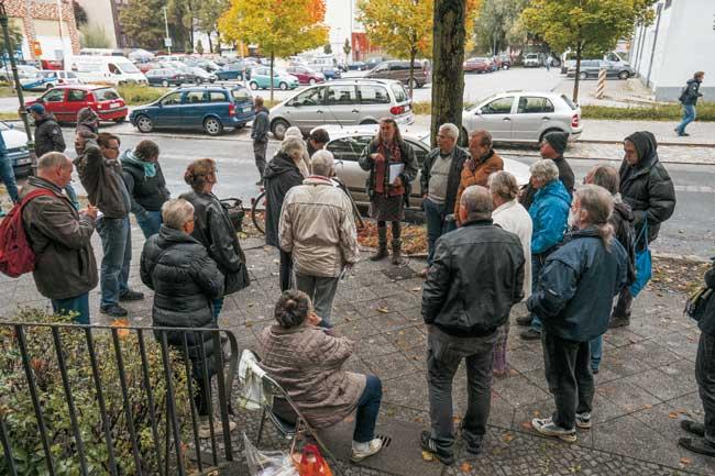 Mieterprotest in der Heidelberger Straße
