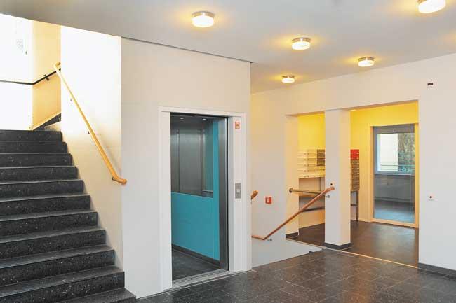 Treppenhaus im Seniorenhaus Westphalweg