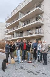Mitglieder der Baugemeinschaft Eisenzahnstraße in Wilmersdorf