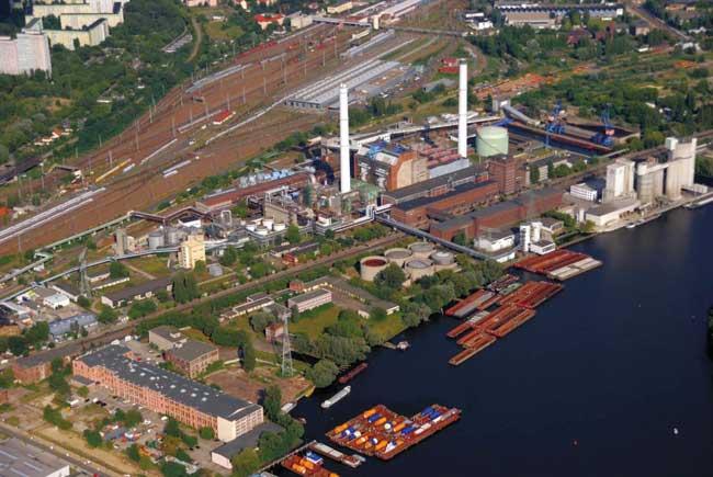 Kraftwerk Klingenberg, Luftbild