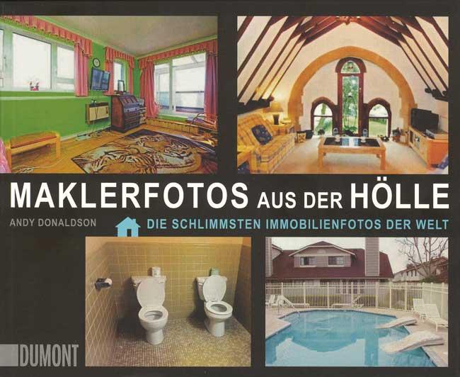 Titelseite des Buches 'Maklerfotos aus der Hölle'