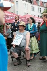 Protest-Sit-in gegen Mietervertreibung in Prenzlauer Berg 2015