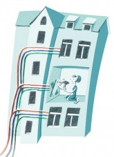 Verplombung der Wohnungsverkabelung