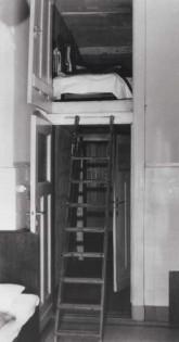 Hängeboden, meist die Schlafkammer der Dienstmädchen um 1900