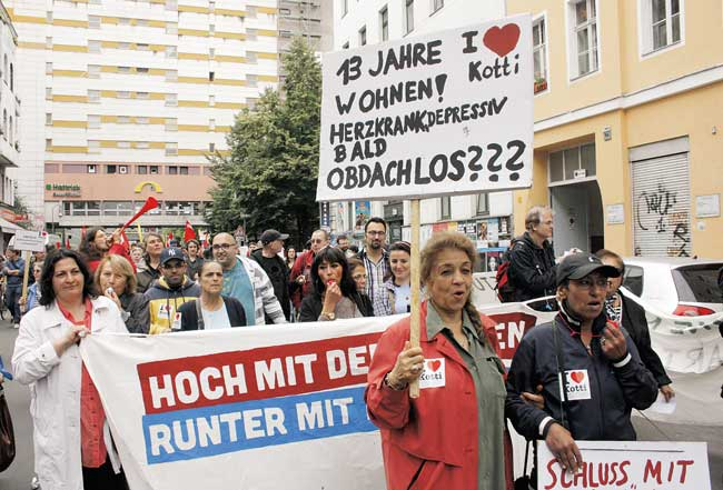 Demo am Kottbusser Tor