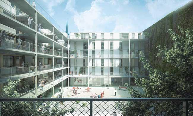 Entwurf des Bauvorhabens in der Neuköllner Briesestraße