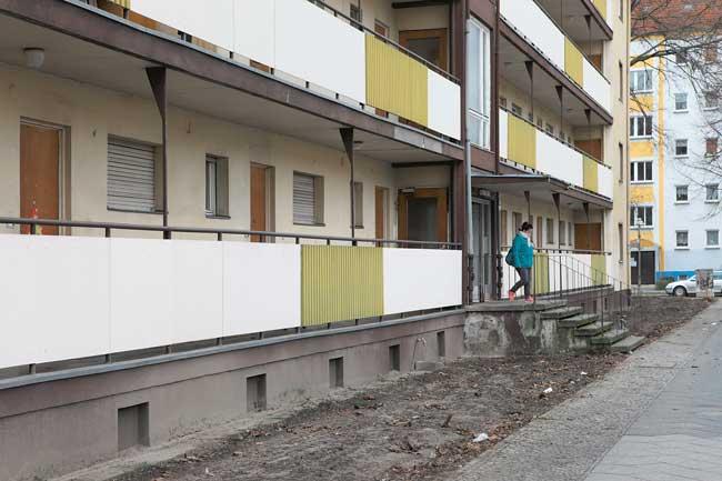 Laubenganghaus in der Heidelberger Straße 15-18
