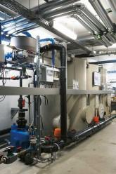 Anlage für Grauwasserrecycling mit Wärmerückgewinnung